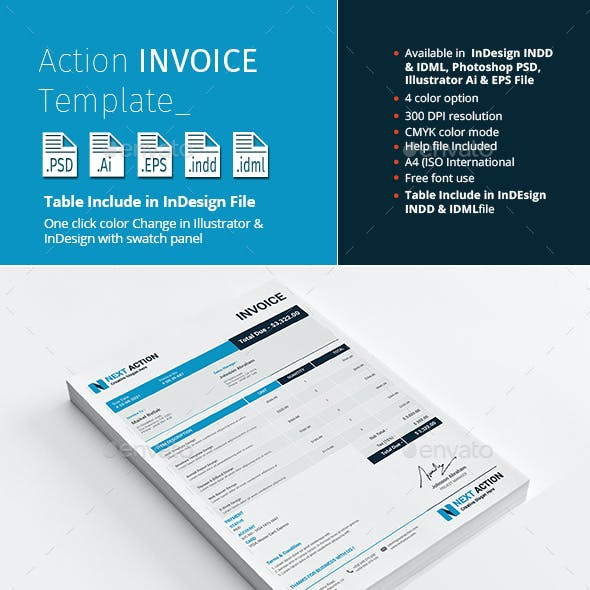 Action Invoice Template
