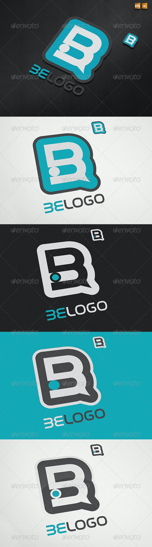 Two Versions Abstract Letter B Logo - Letters Logo Templates