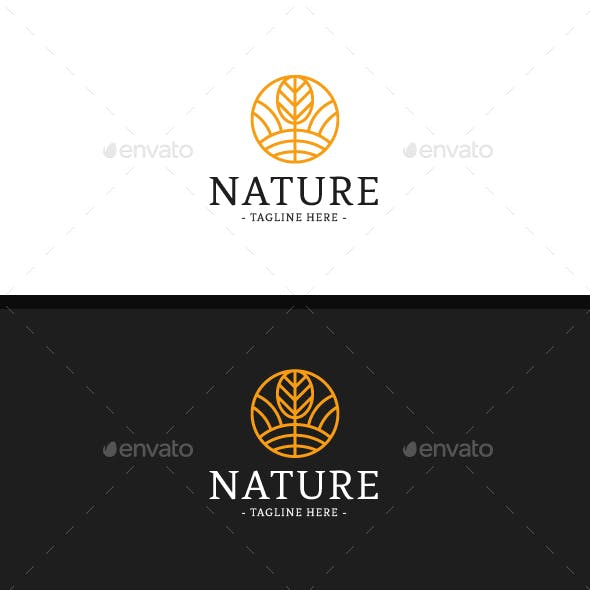 Yellow Nature Logo Template