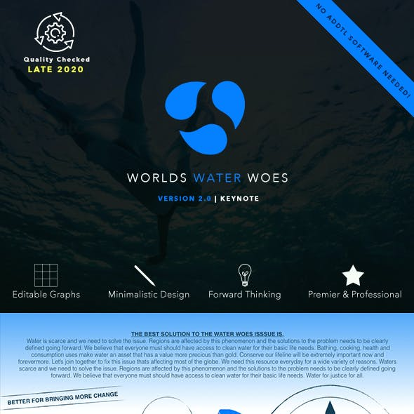World's Water Woes Keynote Presentation