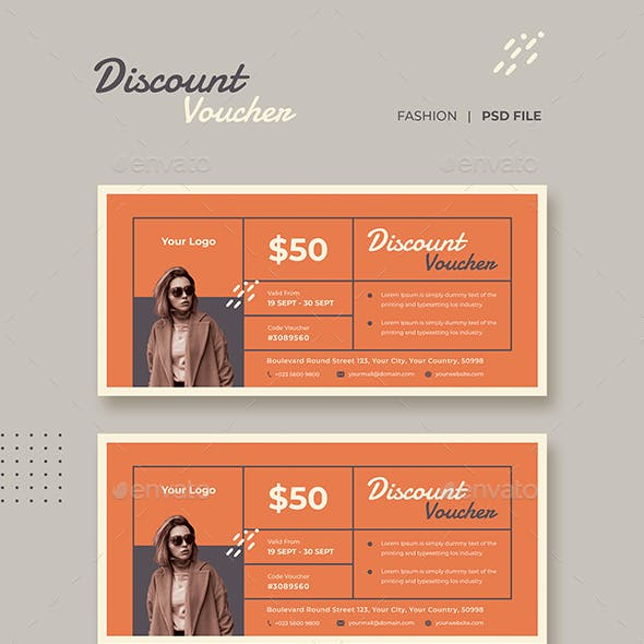 Gift Voucher Fashion Template