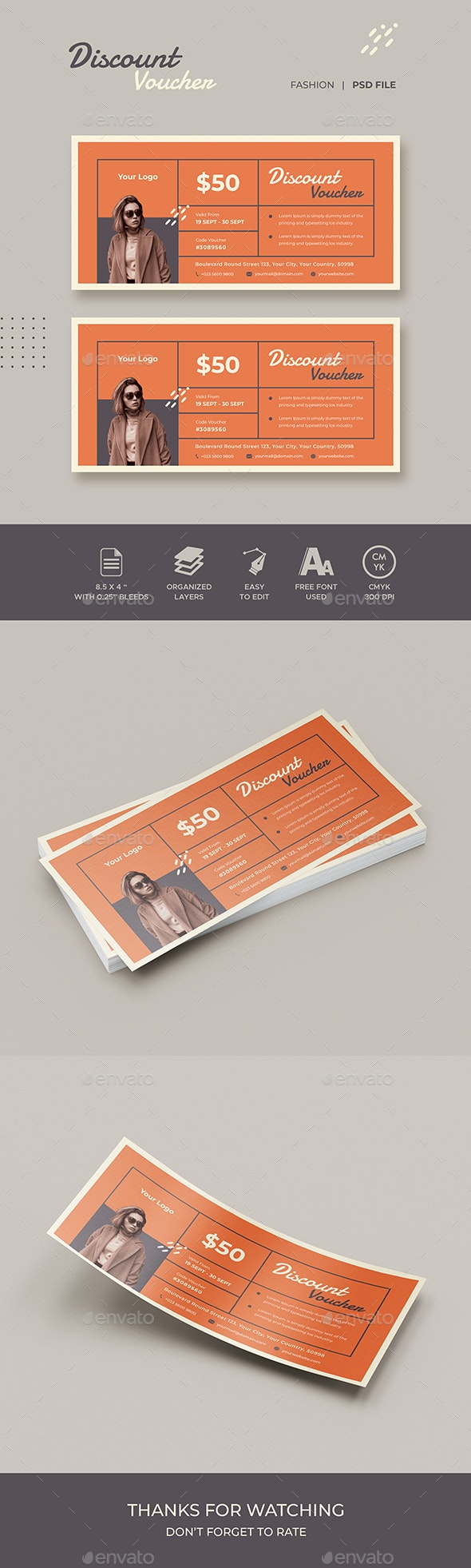 Gift Voucher Fashion Template - Loyalty Cards Cards & Invites