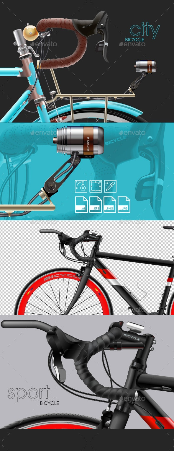 Vector Illustration of a Bicycle - Man-made Objects Objects