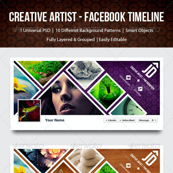 Creative Artist / Photographer Timeline - Facebook