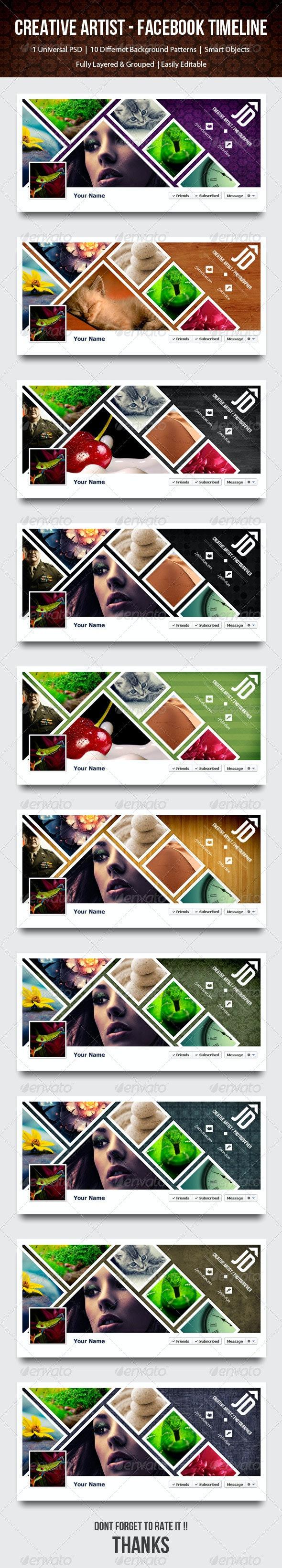 Creative Artist / Photographer Timeline - Facebook - Facebook Timeline Covers Social Media