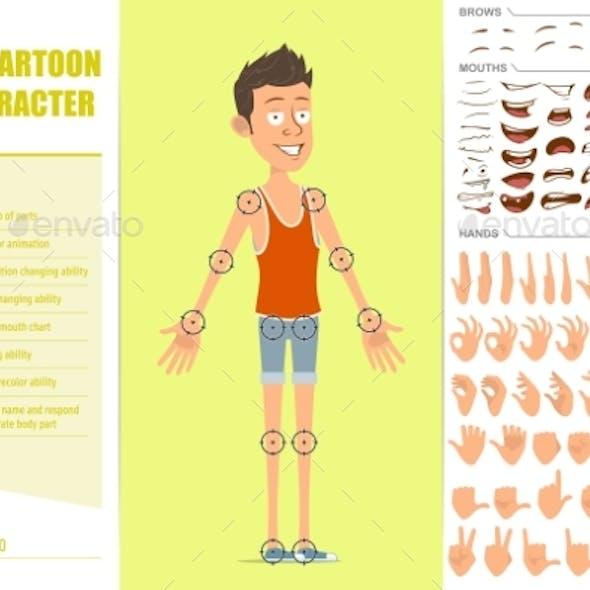 Cartoon Flat Sportsman Character Vector Set