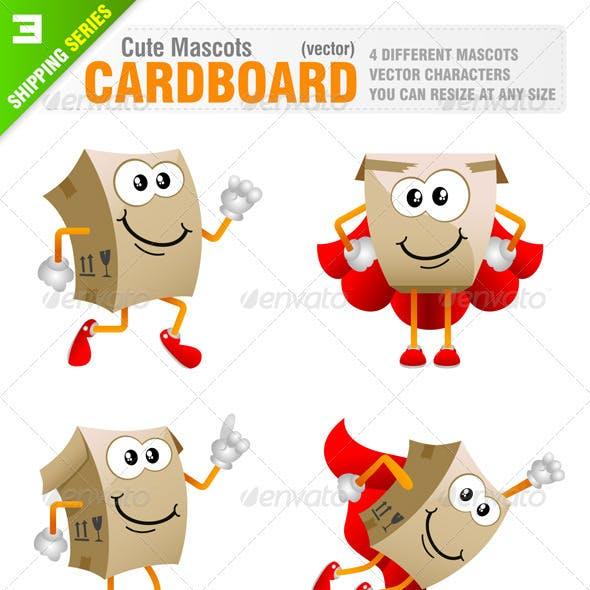 4 Cardboard Mascots