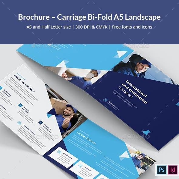 Brochure – Carriage Bi-Fold A5 Landscape
