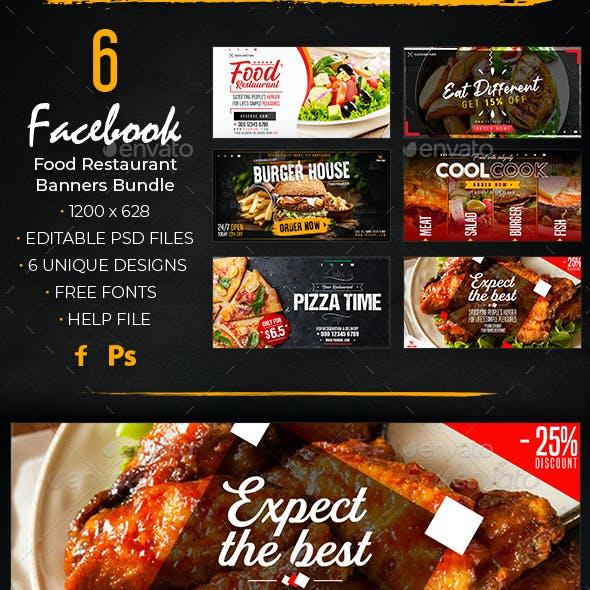Facebook Food Restaurant Banners Bundle