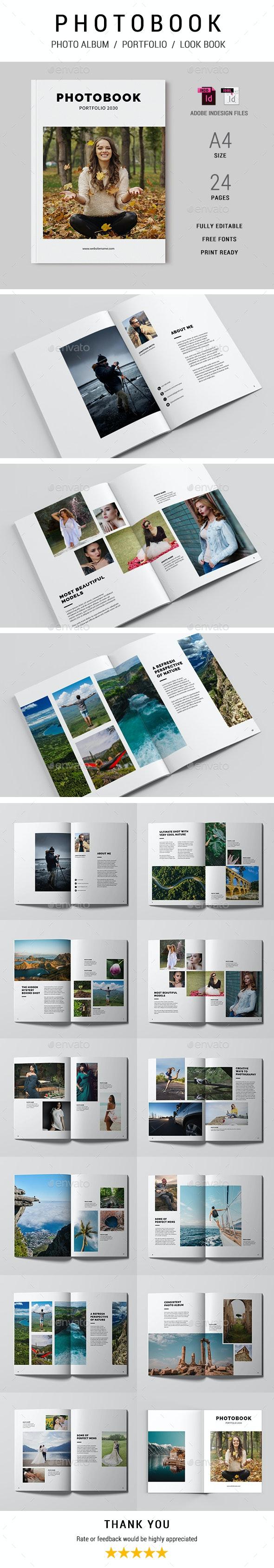 Photo Book / Portfolio - Photo Albums Print Templates