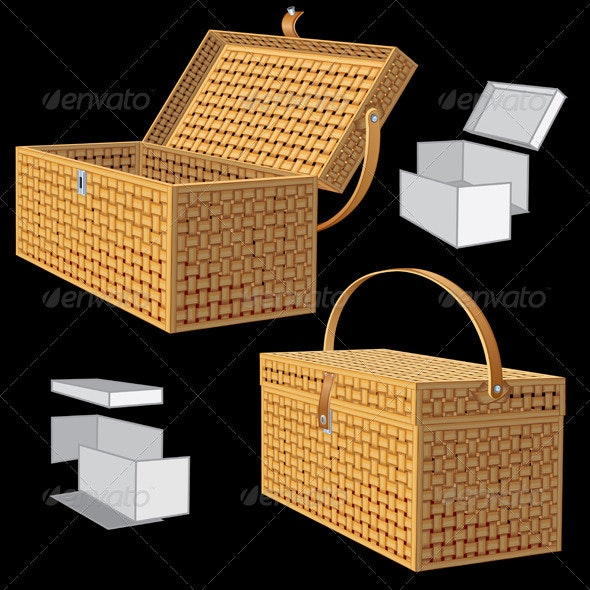 Vector Picnic Basket - Objects Vectors