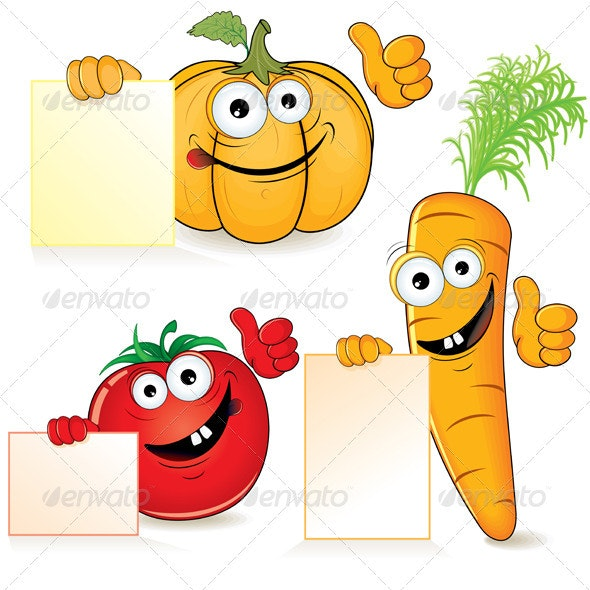 Funny Vegetables - Food Objects