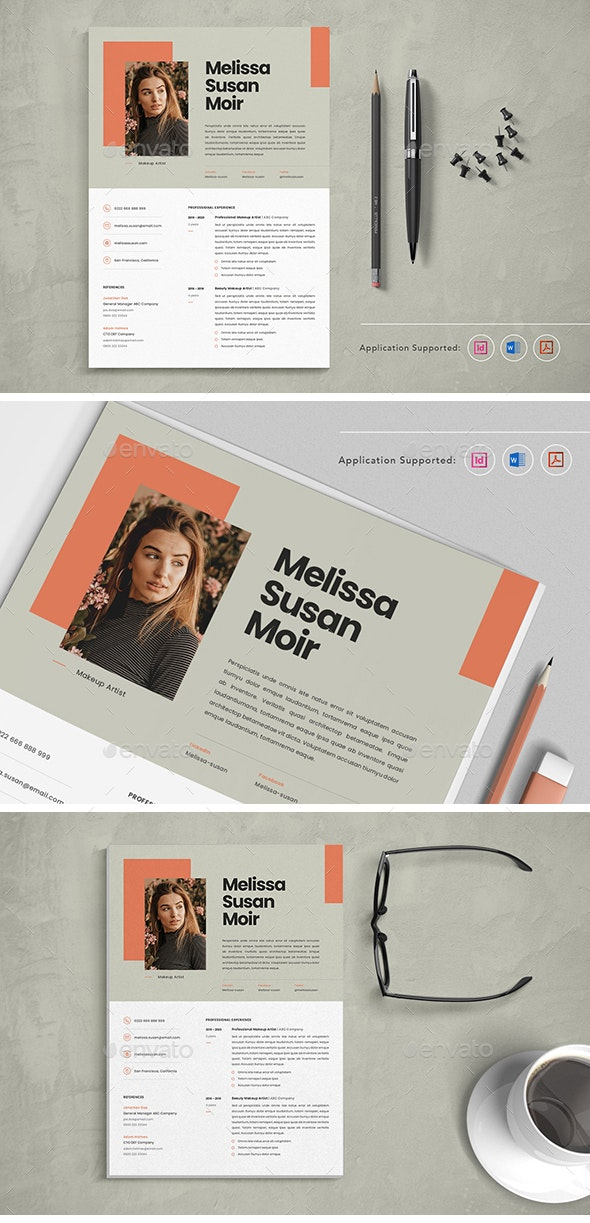Professional CV Resume Indesign Template Vol.7 - Resumes Stationery