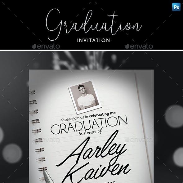 Elegant Graduation Invitation