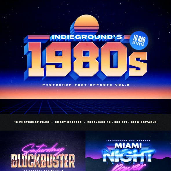 80s Text Effects Vol.3