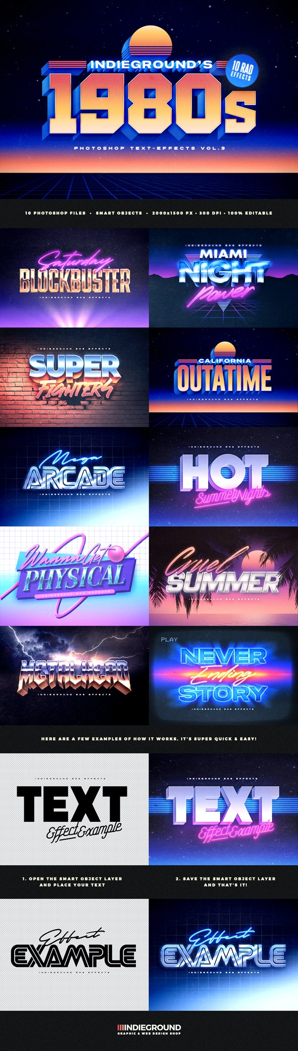 80s Text Effects Vol.3 - Text Effects Actions