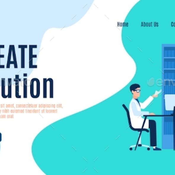 Create Solution Landing Page, Man and Woman