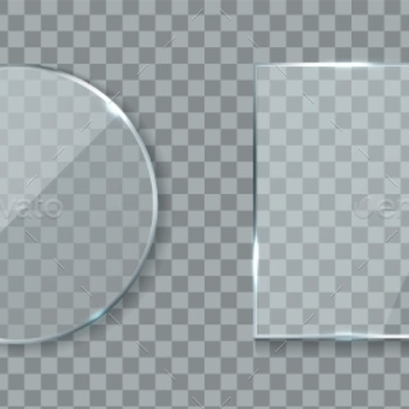 Round and Square Acrylic Banners. Mirror Lens