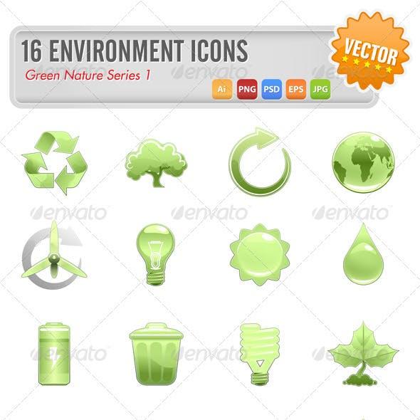 16 Environment icons