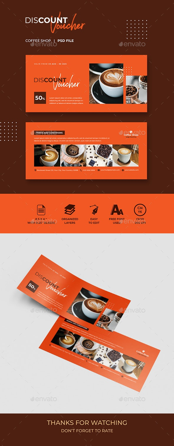 Gift Voucher Coffee Template - Loyalty Cards Cards & Invites