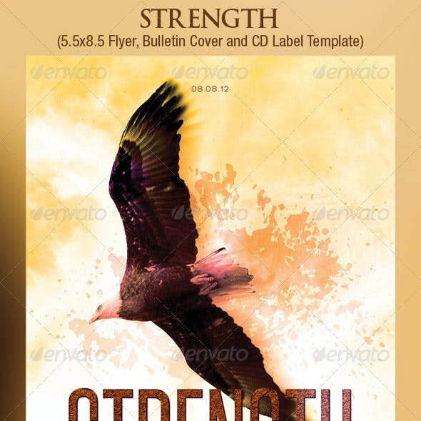Eagle Strength Flyer Bulletin CD Template