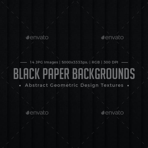 Black Paper Background Abstract Geometric Design Textures