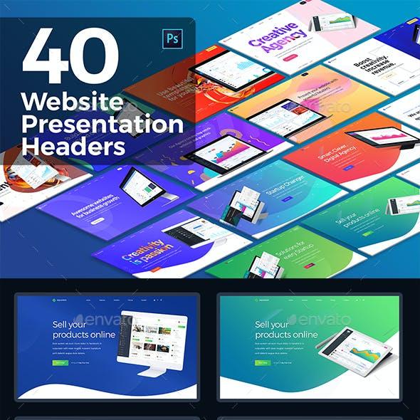 40 Hero Website Presentation Headers