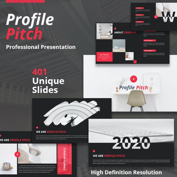 Profile Pitch Powerpoint Template