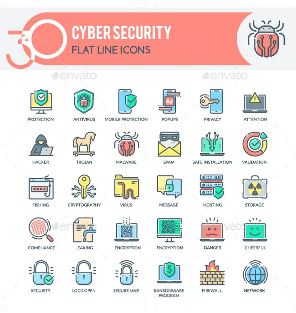 Cyber Security Icons - Technology Icons