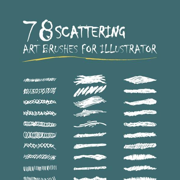 Illustrator Scattering Art Bruseh for Illustrator