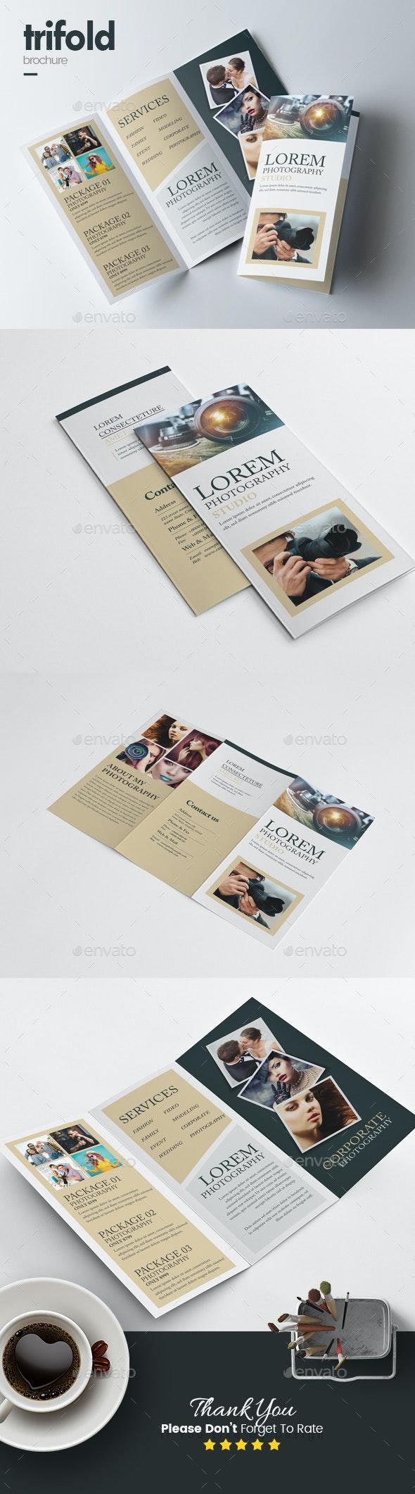 Minimal Photography Tri-Fold Brochure - Corporate Brochures