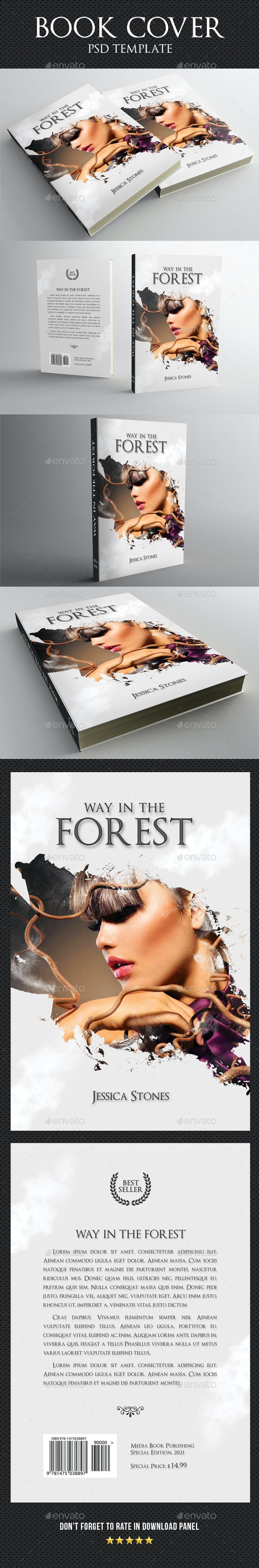 Book Cover Template 74 - Miscellaneous Print Templates