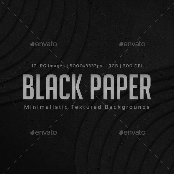 Black Paper Minimalistic Textured Backgrounds