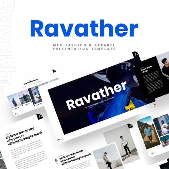Ravather - Men Fashion & Apparel Keynote Template
