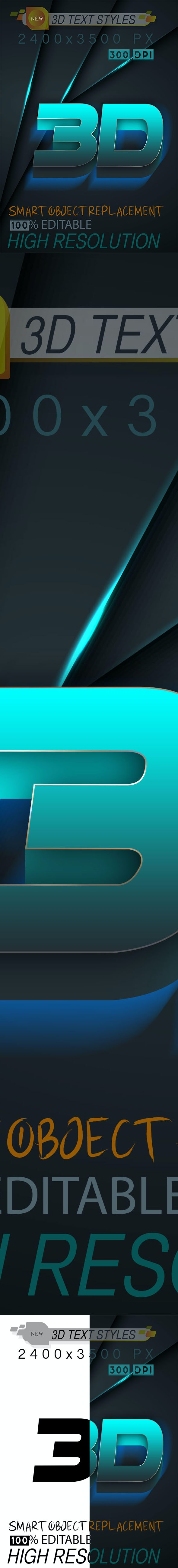3D Text Styles 05_09_20 - Text Effects Actions