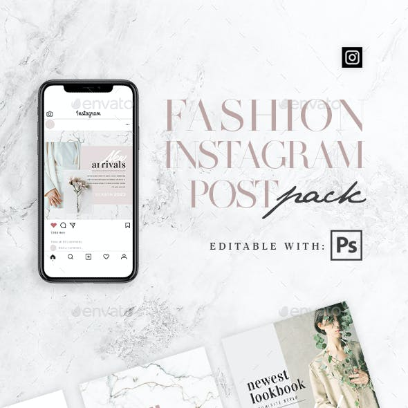 Fashion - 10 Instagram Post Pack