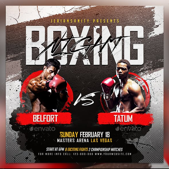 Boxing Fight Flyer