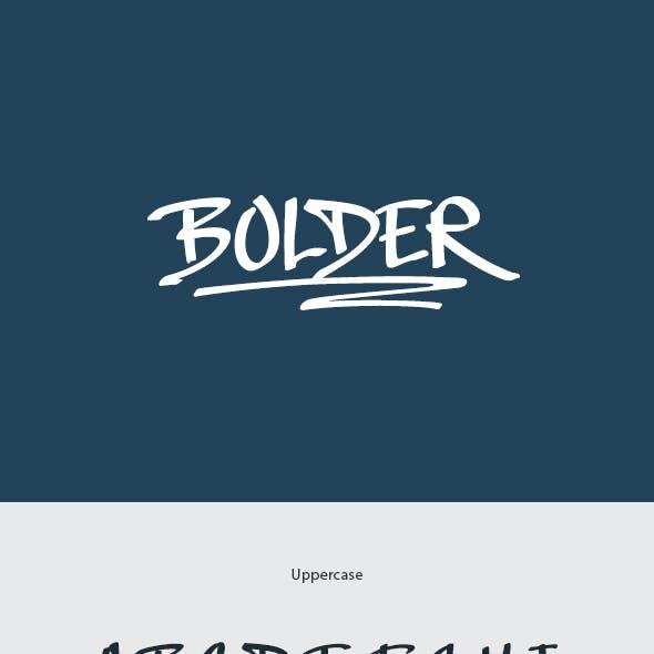 Bolder Handwritten Font