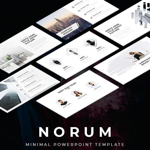 Norum - Minimal Powerpoint Template