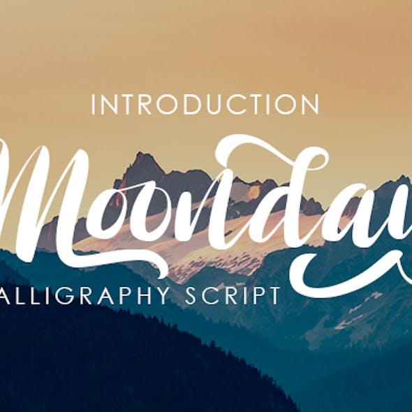 Moonday  – Calligraphy Font