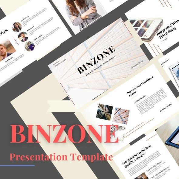 BINZONE - Warehouse Solution Presentation PowerPoint Template