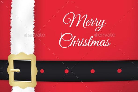Santa Claus Belt and Coat - Christmas Seasons/Holidays