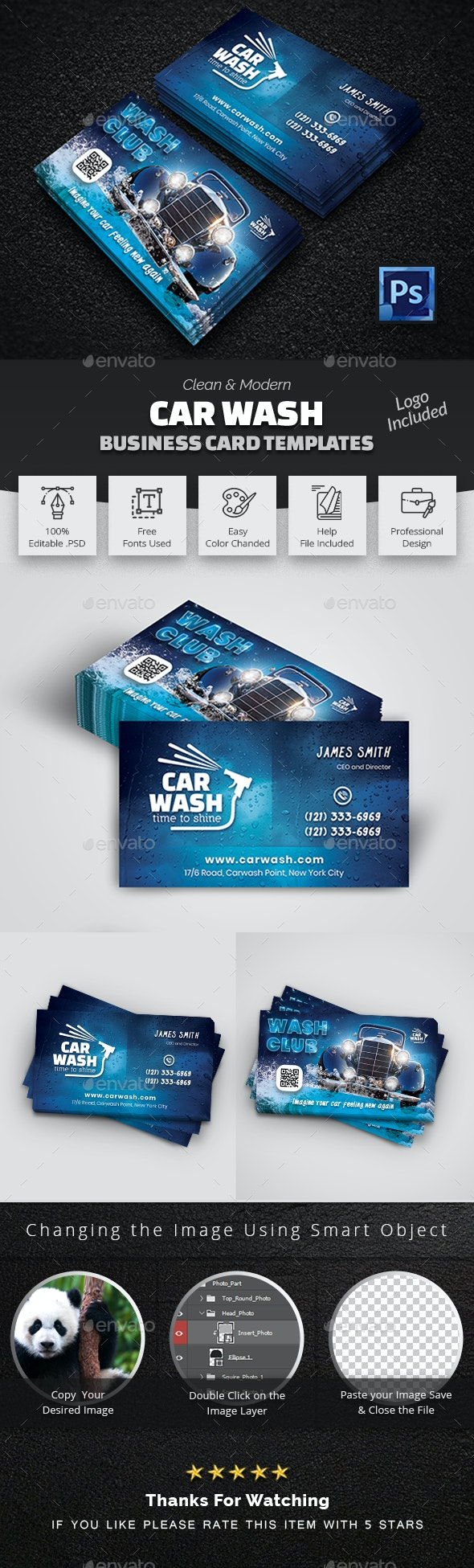 Car Wash Business Card Template - Creative Business Cards