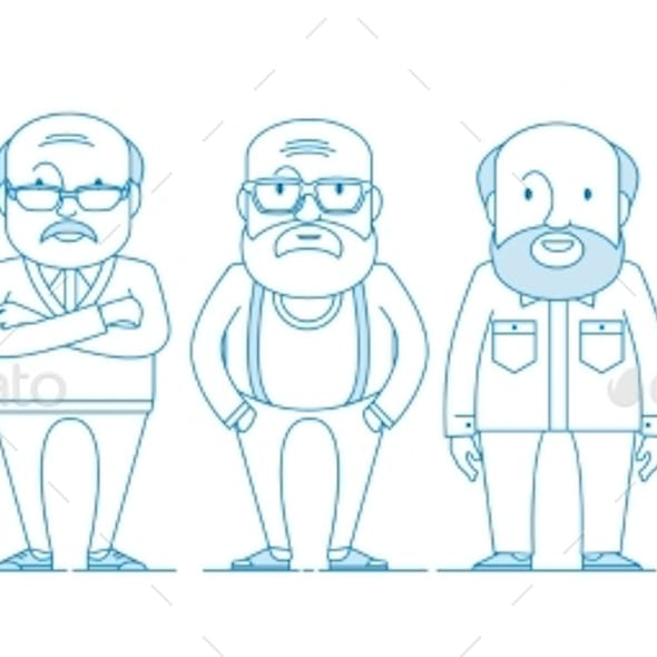 Aged People. A Group of Old People