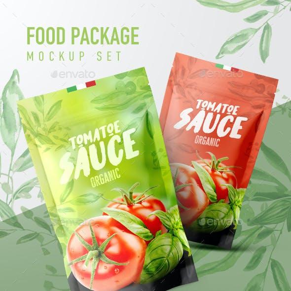 Food Package Mockup