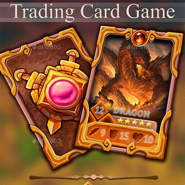 Trading Card Game Template Vol.5