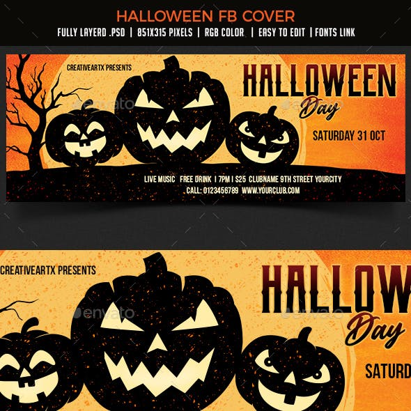 Halloween Party FB Cover