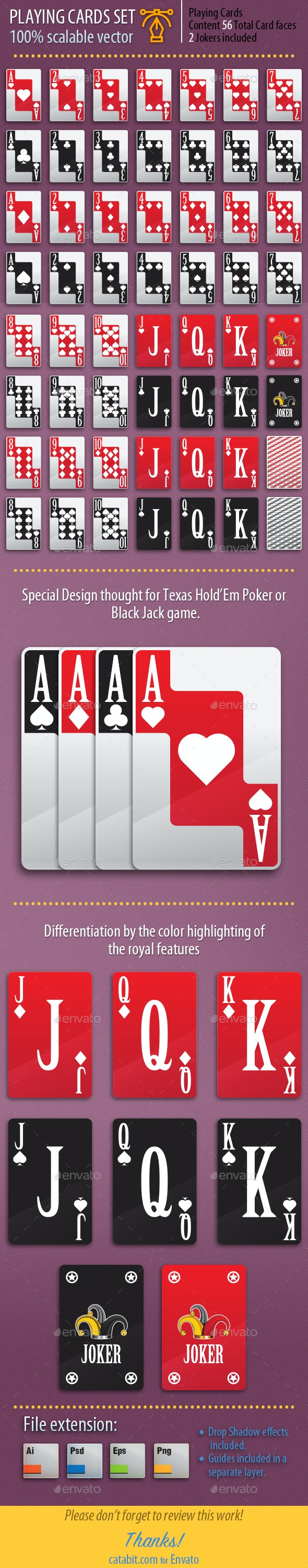 Playing Cards Set 010 - Game Assets