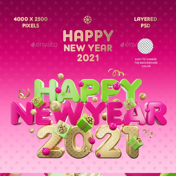 Happy New Year 2021 Color
