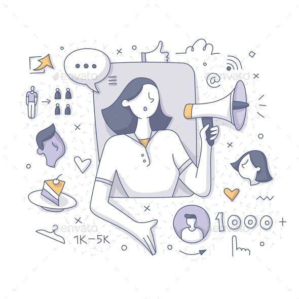 Nano Influencer Doodle Concept